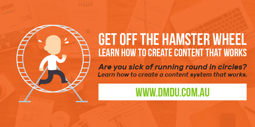 Stop chasing your tail on the hamster wheel –  Lindsay Marder has smarter ways to use content marketing